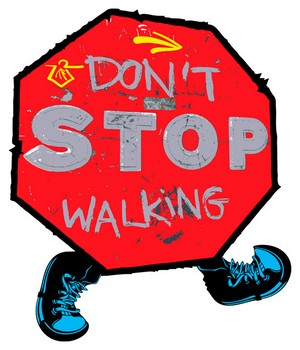 Don't stop walk