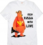 Футболка мужская «Медведь From Russia with love»