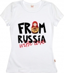 Футболка женская «Матрешка From Russia with love»