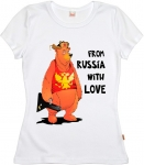 Футболка женская «Медведь From Russia with love»