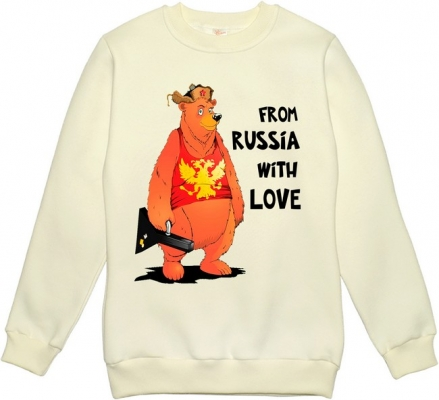 Толстовка женская «Медведь From Russia with love»